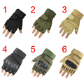 Blackhawk Hell Storm Tactical Outdoor Airsoft Bicycle Sports Paintball CS Luvas Carbon Knuckle Half Fingerless Gloves