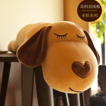 60cm Super Soft Dog Plush toy Kawaii Puppy Animal Baby Stuffed Sleeping lying Dog Pillow Cushion Kids Gift Cute Soothing Toy rainbow teddy bear kawaii cute molang potato plush toy kids toy baby toy soft pillow plush wedding decoration anime kids gift