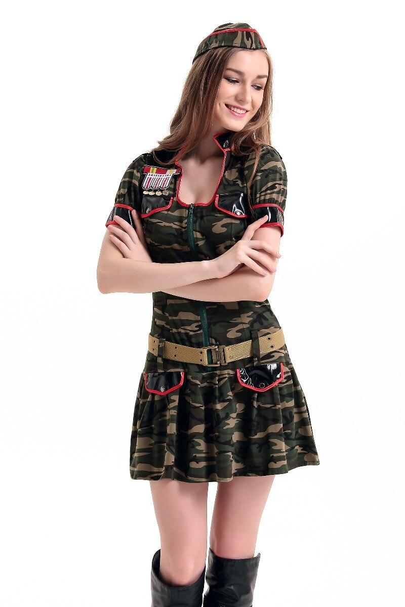 Vocole Sexy Army Soldier Camo Uniform Ladies Fancy Dress Hen Party ...