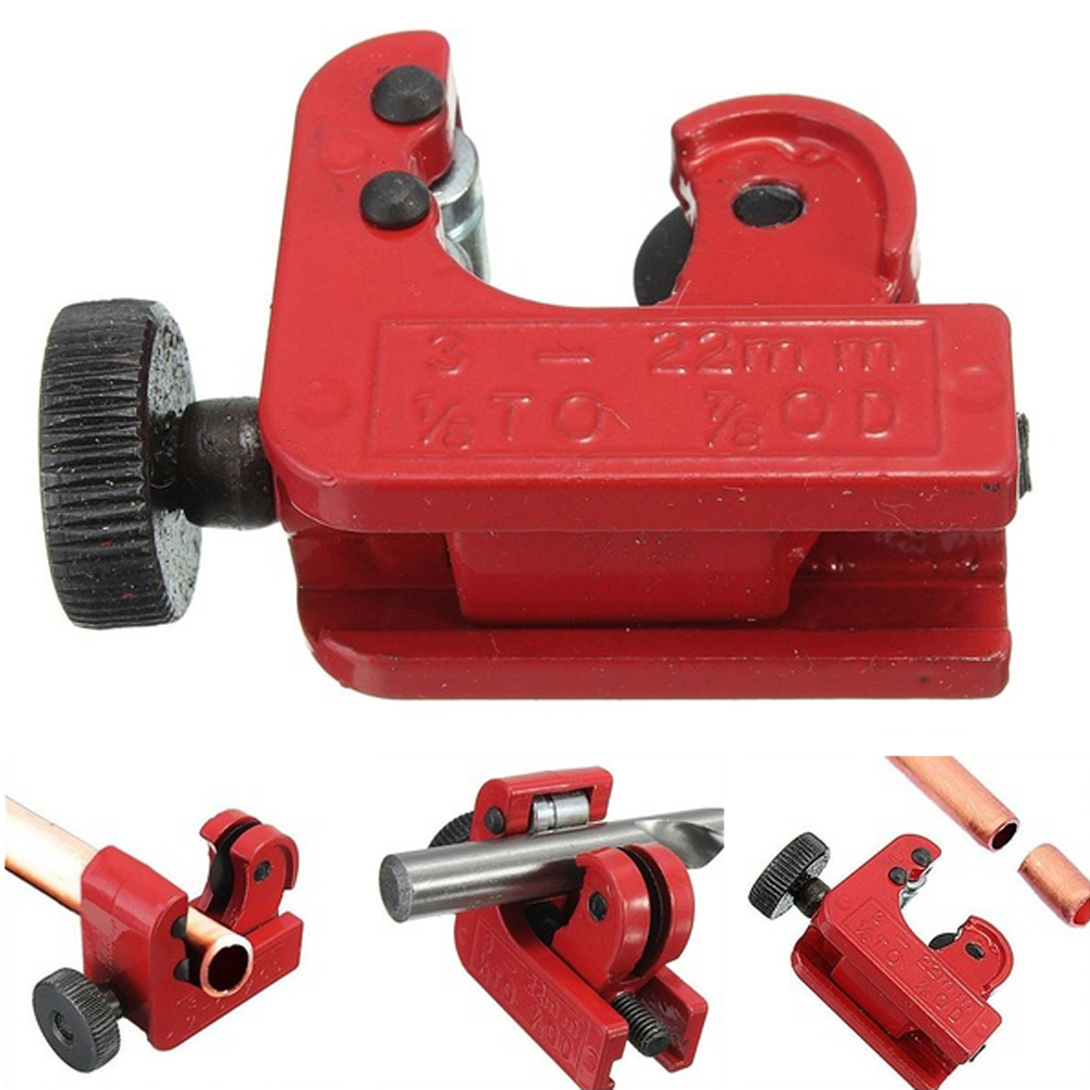 Mini Tube Cutter Cutting Tool For 3mm-22mm Copper Brass Aluminum Plastic Pipes Zinc Alloy Tube Cutter Color Red