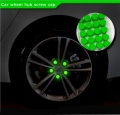 Hottest Car Styling Free Shipping 20pcs Silica Gel green Wheel Nuts Covers Protective Bolt Caps Hub Screw Protector 17# 19# 21#
