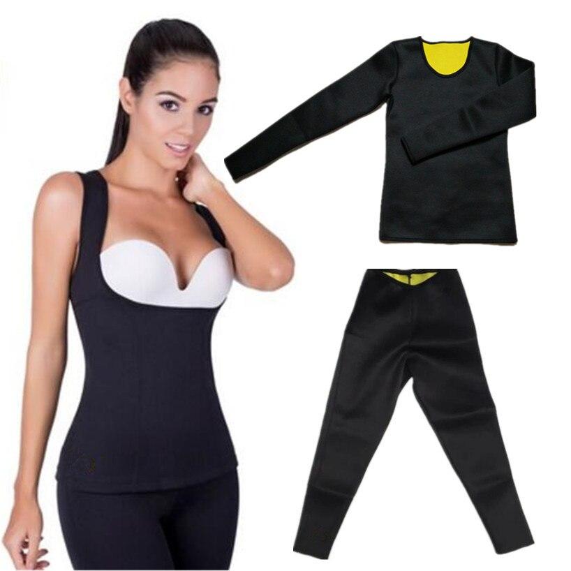 9afe6131797b1 Hot Body Shapers Sweat Neoprene Shaper Slimming Pants Women Weight Loss Hot  Thermo Corset Waist Trimmer Slimming Shirt Shapewear on Aliexpress.com