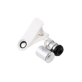 bdac8511151 Clip en el microscopio del teléfono móvil lentes de aumento 60X lente del  telescopio del Zoom óptico con luz LED para iPhone 6 7 5S samsung Galaxy
