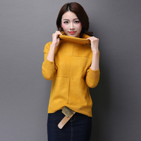 High Quality Autumn And Winer Fashion Pure Color Lady S Long Sleeve Turtleneck Cashmere Sweater