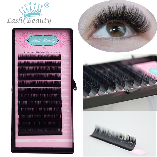 9c2ccc1e537 5 Cases/Lot 0.07 False Eyelashes Individual Extension Tray Faux Mink  Material Lashes Cilios Natural