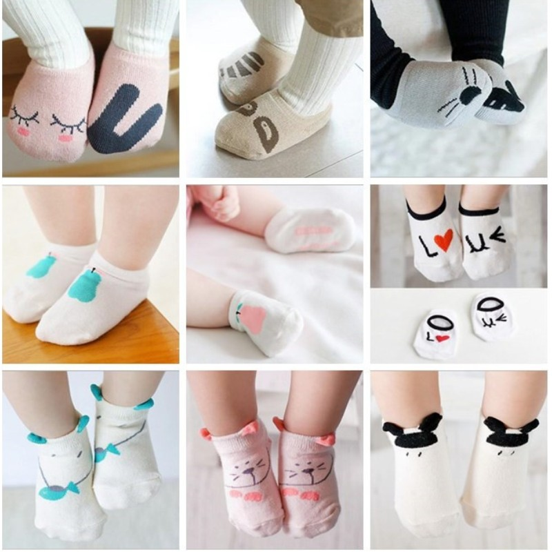 New 100% Cotton Baby Socks Newborns Candy Male Female Kid's Children Socks Baby Boy And Girl Short Floor Socks Free Shipping