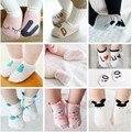 Unisex Do Bebê meias meias chão bebê meias meninos meninas crianças dos miúdos animal rato coelho cutu padrão urso meias de algodão