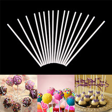 100Pcs Lollipop Stick Food-Grade Plastic Pop Sucker Sticks Cake Pop Sticks For Lollypop Candy Chocolate Sugar Pole(China)
