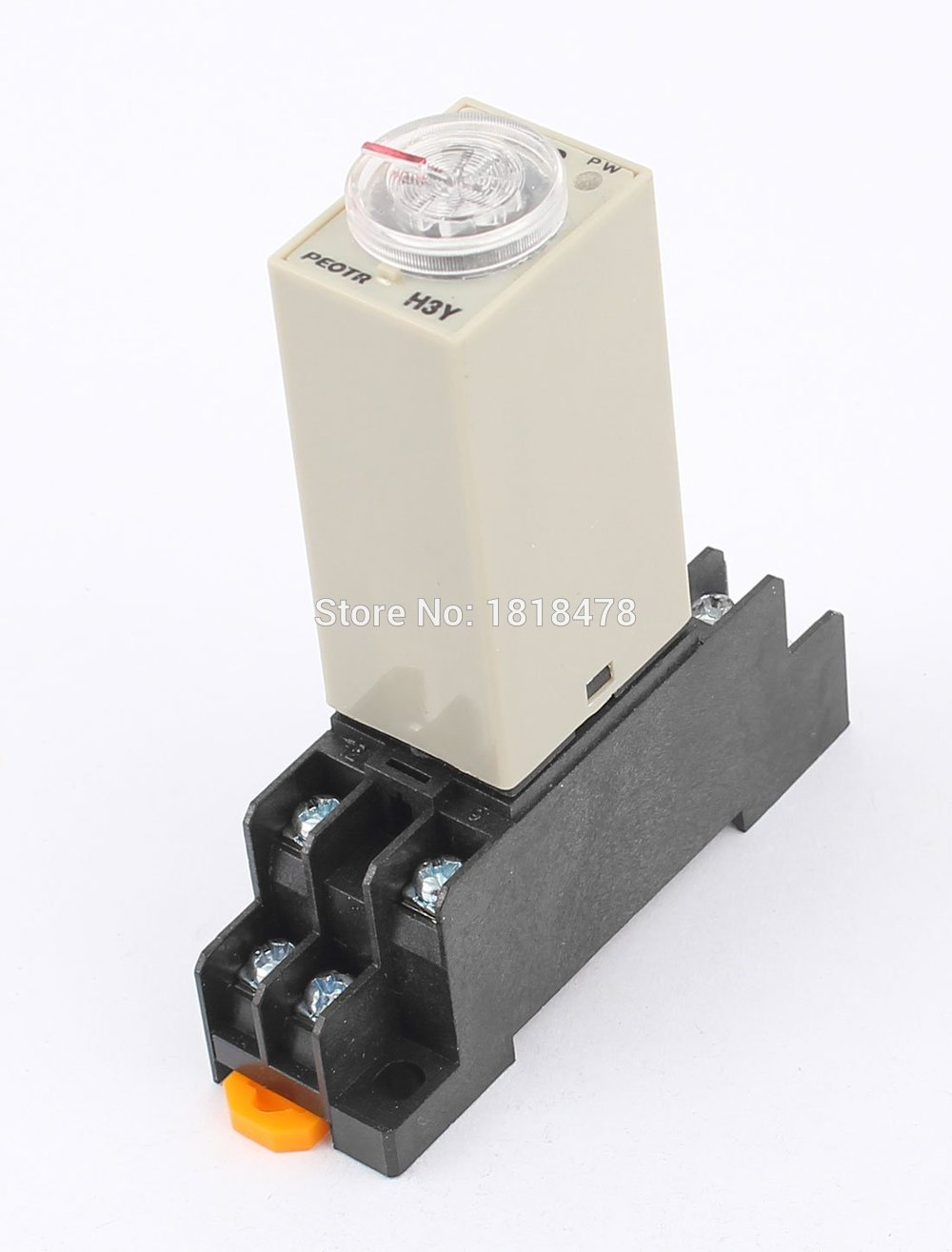 AC 24V H3Y-2 Time Delay Relay Solid State Timer 0-60S DPDT w Socket max 10s 12vdc h3y 2 power on 3a time delay relay solid state dpdt socket base
