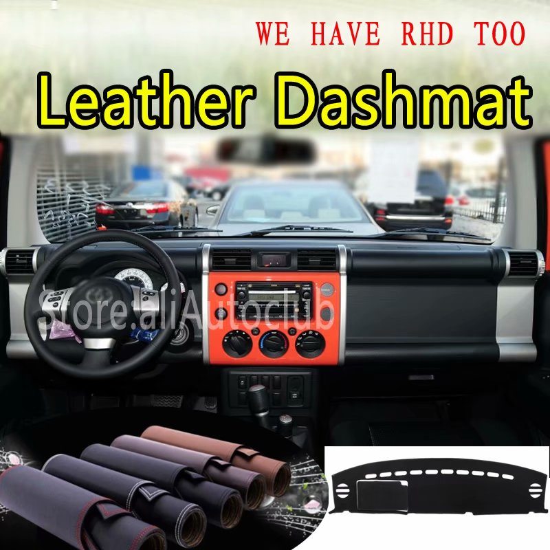 For Toyota FJ Cruiser 2006-2017 2010 2014  Leather Dashmat Dashboard Cover Dash SunShade Carpet Custom Car Styling LHD+RHD