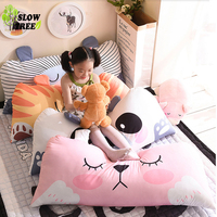 Slow Tree Cartoon Cushion Bedroom Pillow 50x110CM(20x44IN) Bedroom Large Decoration Cusions Back Children Big Pillows Decoration