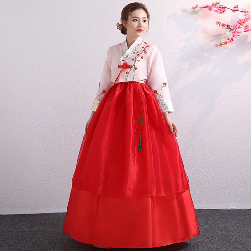korean hanbok red korean costume princess korean clothing north korea dress national costume korean traditional dress