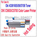Для Okidata 43381905 43381906 43381907 43381908 Тонер-Картридж, Для Данных Oki C5700 C5600 C5650 C5750 Тонер Цветной Принтер Пополнения