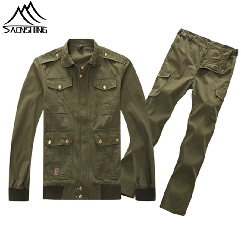 2018 Army Suits Military Uniform Men Women Outdoor Military Tactical Trainning Suit Cotton Blends Army Green Wear-Resistant Sets ...