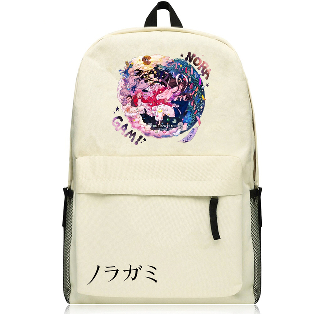 Harajuku Japanese Anime Noragami ARAGOTO YATO Cosplay Printing Canvas  Backpack School Backpacks for Teenage Girls School Bags 89ef0d774d376