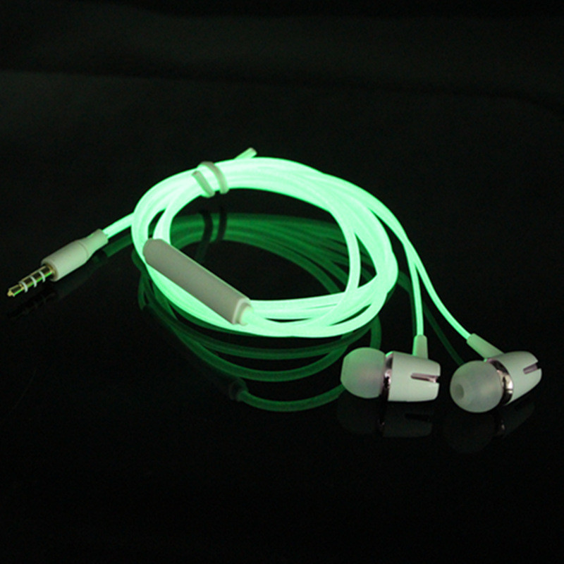 Luminous Headset 3.5mm Plug Wired Glowing Earphone with Mic Volume Control Bass Earbud for IPhone Samsung Huawei Xiaomi Phone Pc(China)