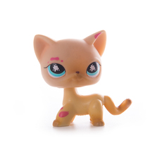 Lps Pet Shop Rare LPS Green Eyed Tiger Shorthair Cat Collection Classic Animal Toy