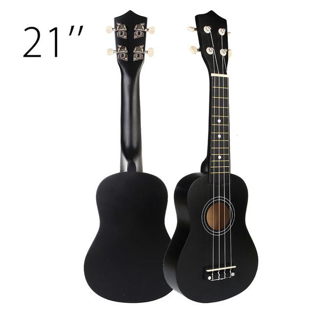 21 inch Black Soprano Ukuleles