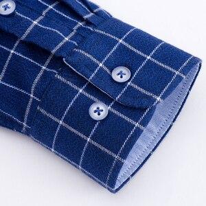 Image 4 - ผ้าฝ้าย 100% ผ้าลินินผู้ชายลายสก๊อตเสื้อ 2018 ฤดูใบไม้ผลิฤดูใบไม้ร่วงเสื้อลำลองแขนยาวคุณภาพสูงยี่ห้อ Man ขนาด 5XL