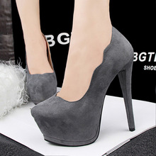15 CM Women's Pumps Shoes Woman Thin Heels High Heels Shoes Sexy Platform Shoes OL Office Party Women's Shoes Sapatos Femininos