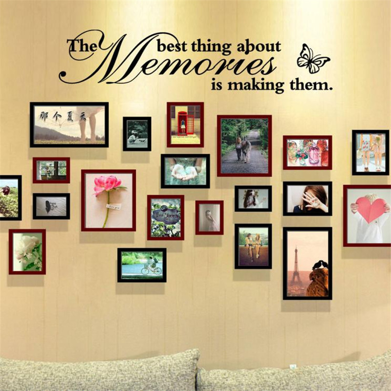 The Best Thing About Memories is Making Them Removable Art Home Room Decor Wall Stickers Drop shipping product          O0817#30