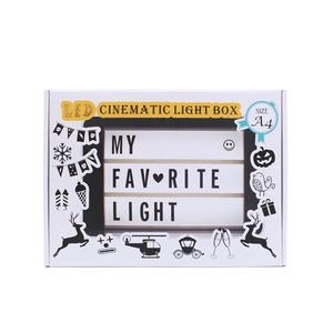 Image 5 - 2020 New A4 A5 A6 Size LED Combination Night Light Box  Lamp DIY BLACK Letters Cards USB PORT Powered Cinema Lightbox