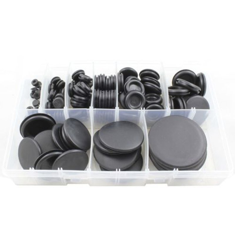 130pcs Cable Blanking Grommet Rubber Closed Grommets Assortment Box 6mm-50mm Diameter For Electrical Wire Gasket Tool ...