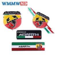 Di Alluminio del metallo Italia Sticker Scorpione Adesivo Abarth Distintivo Dell'emblema Della Decalcomania per Fiat viaggio Abarth Punto 124 125 500 Car Styling