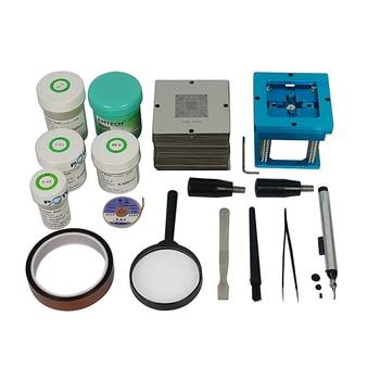 цена на 184pcs 90mm BGA Stencil Universal BGA Reballing Station BGA reballing kit