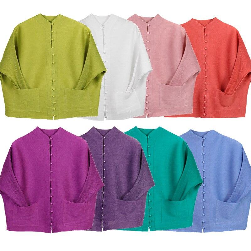 Kobiet wielu kolorowe luźne trwały płaszcz pojedyncze piersi z długim rękawem kieszenie na co dzień kurtka europejska kobiety odzież wierzchnia ubrania w Podstawowe kurtki od Odzież damska na  Grupa 2