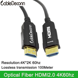AOC Active Optical Cable Fiber HDMI 2.0 4K60hz lossless Cable For laptop PS4 HD TV BOX Porjector 10m 15m 20m 30m 50m 100m(China)