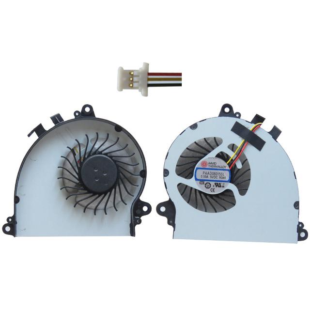 Ventilador de Refrigeração da CPU Para MSI GS70 GS72 MS-1771 MS-1773 PAAD06015SL-N184-N229 notebook Cooler 5VDC 0.55A
