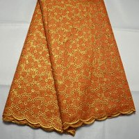 wholesale Latest nigeria fashion high quality Swiss Voile lace with gold thread African swiss Wedding Dress lace Fabrics