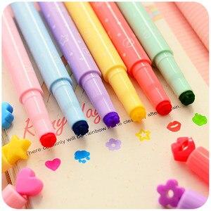 Image 2 - 36 Teile/los Nizza Highlighter Farbe Stempel Marker Stifte für Journal Notebook DIY Werkzeuge Zakka Schreibwaren Büro Schule Liefert A6285