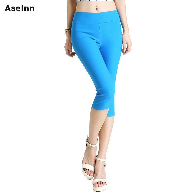Popular Stretch Capris Elastic Waist-Buy Cheap Stretch Capris ...