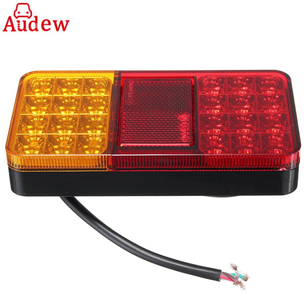 24LED 12 V camión remolque luces traseras luces de freno detener cola Turn indicador lámparas LED para el coche remolques camiones Utes barcos