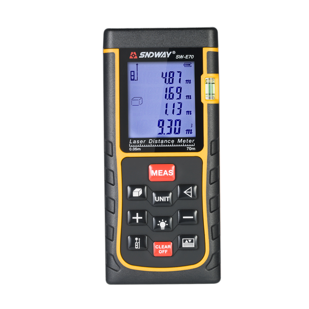 Mini Handheld 150m LCD Digital Laser Distance Meter Range Finder Distance Area Volume Measurement 100 Groups Data Storage in Laser Rangefinders from Tools