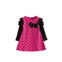 Hot Sale Spring Girls Dress Cotton Full Sleeve Girls Clothes Fashion Princess Dresses Vestido Infantil For