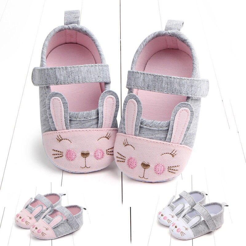 Newborn Infant Toddler Newborn Baby Girl Soft First Walkers Sole Crib Shoes Anti-slip Pram Prewalker Shoes