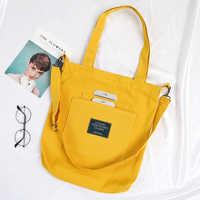 New Ladies Cloth Canvas Tote Bag Handmade Cotton Shopping Travel Women's Folding Shoulder Shopping shopper Bags bolsas de tela