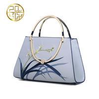 Famous Brand Top Quality Dermis Women Bag 2016 China Wind Shoulder Bag Elegant Fashion Handbag Embroidered