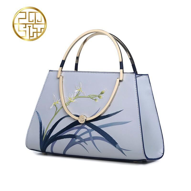 Famous brand top quality Cow Leather women bag   2016 China Wind shoulder bag Elegant fashion handbag Embroidered Bags exclusive 3d model relief for cnc in stl file format iconostas 1