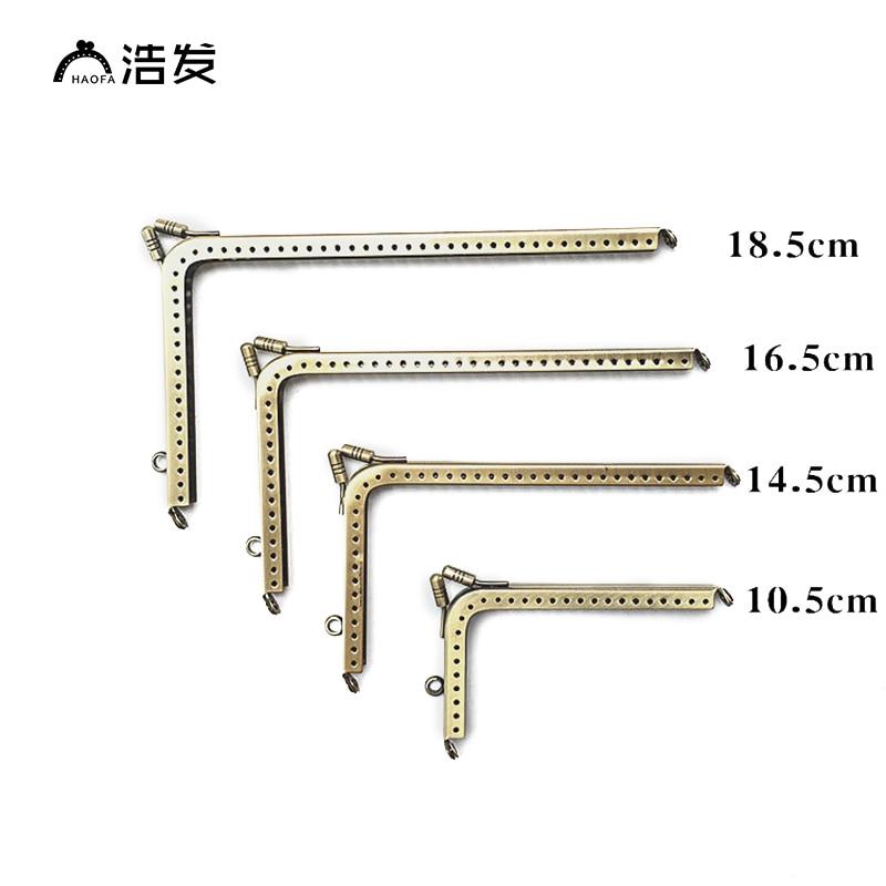 Bolsa de Embreagem Bolsa de Metal Quadro para Costura 18.5 Centímetros l Forma Bolsa Acessórios Quadro Fecho 10 Pcs 10.5 14.5 16.5