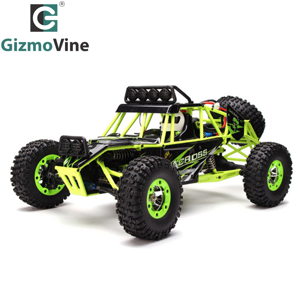 GizmoVine WLtoys 12428 Rc Car 2.4G 1/12 4WD Crawler RC Car 1:12 Electric four-wheel drive Climbing RC Car With LED Light RTR wltoys 12428 12423 1 12 rc car spare parts 12428 0091 12428 0133 front rear diff gear differential gear complete