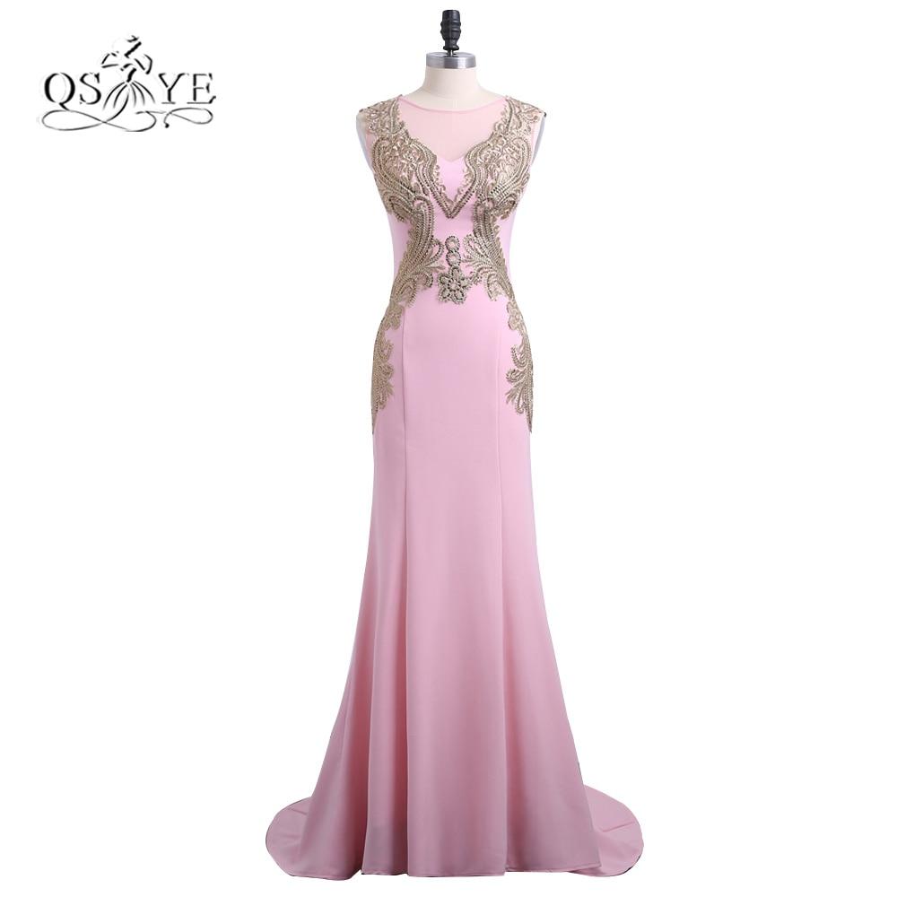 ₩2018 nueva llegada sirena Rosa largo Vestidos de baile robe de ...