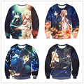 autumn New Arrive Anime Sword Art Online Sweatshirt Hipster 3D casual Long Sleeve Outerwear SAO Crewneck Pullover Unisex tops