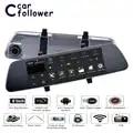 Allwinner Android Car DVR 8 Pollici ADAS Touch Screen Dash Cam Specchio Retrovisore Dash Fotocamera Dual Lens GPS di Navigazione wifi Bluetooth