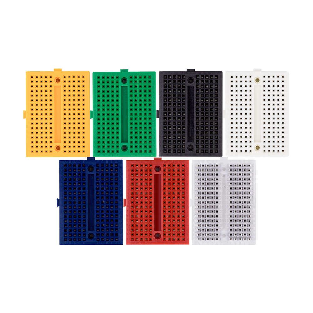 4 Stück Mini Breadboard weiß 170 Kontakte SYB-170 für Prototyping DIY