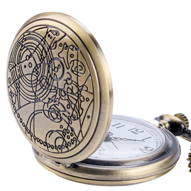2017 Bronze Doctor Who Theme Antique Quartz Pocket Watch With Dr