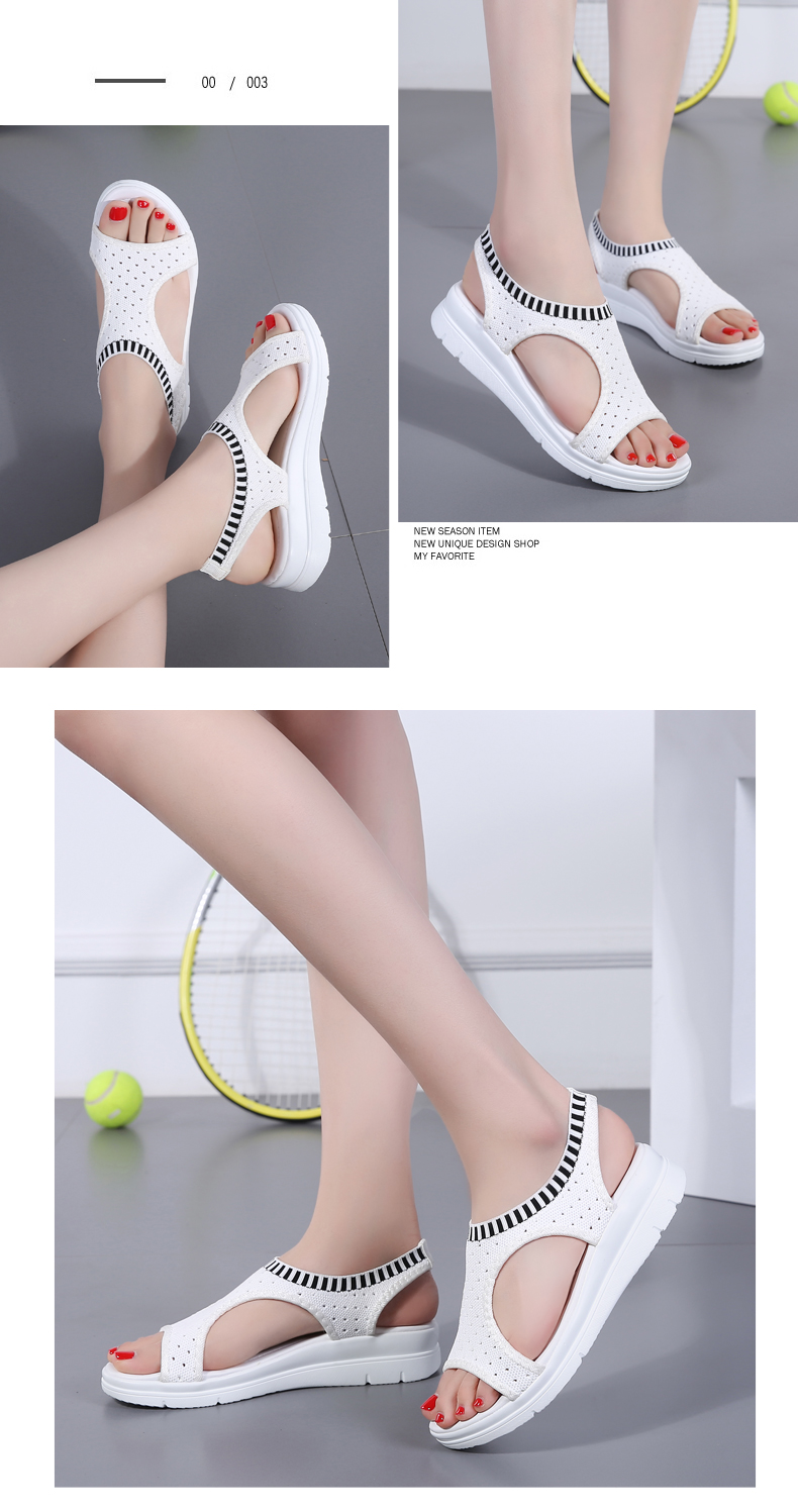 HTB1VcuLRwHqK1RjSZFPq6AwapXa7 ZUNYU New 9 colors Woman Flat Summer Shoes Fashion Women's Sandals Wedge Comfortable Sandals Ladies Sexy Sandals Plus Size 35-45